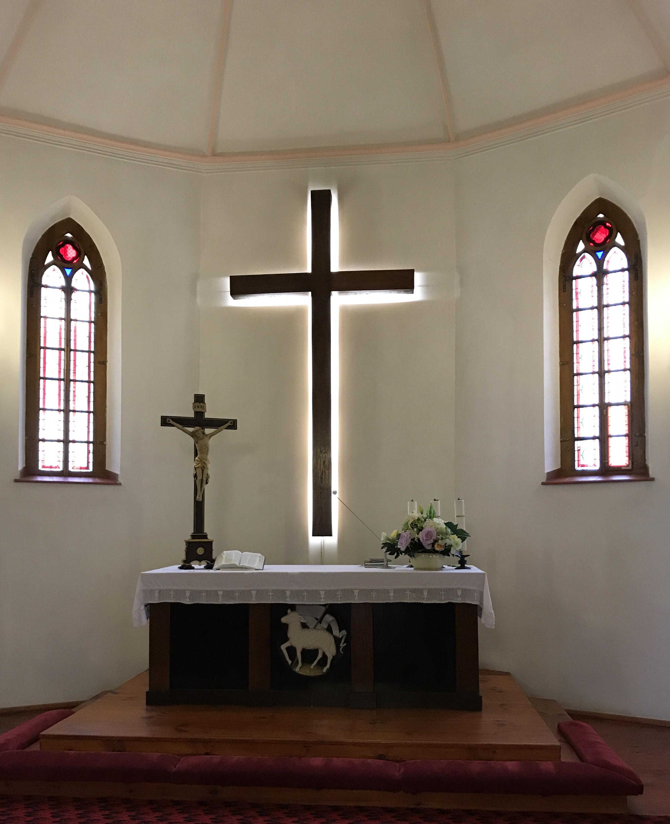 14. Kościół ŚwiętegoKrzyża wSłupsku.Obecna ekspozycja zabytku