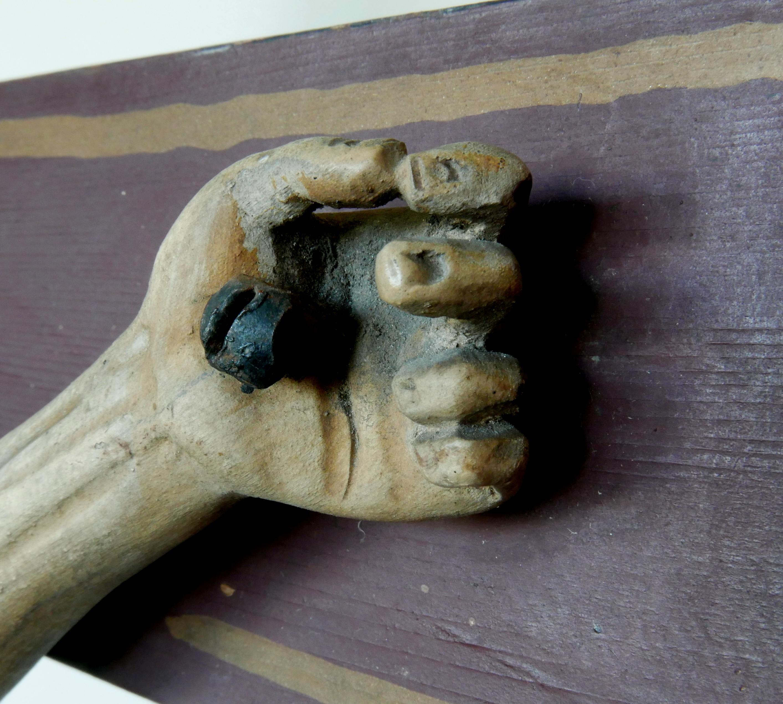 7' Dłoń oryg. Drewno lipy